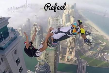Ελεύθερη πτώση από τα ψηλότερα κτήρια του Ντουμπάι!