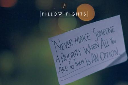 Αν δεν είσαι απ' την αρχή προτεραιότητα, δε θα γίνεις ποτέ