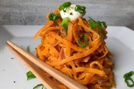 Noodles Γλυκοπατάτας: Φτιάξε το απόλυτο υποκατάστατο των ζυμαρικών στο σπίτι!