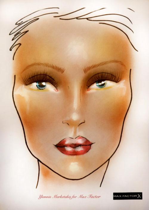 Creme Bronzer_Facechart by Yiannis Marketakis